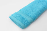 Percale 100% Egyptian Cotton Face Towel (100 x 50 cm) Baby Blue - 2127BB