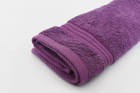 Percale 100% Egyptian Cotton Face Towel (30 x 50 cm) Purple- 2136P