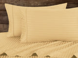Percale 100% Egyptian Cotton Bed Sheet 5 pieces Set (Sheet (280x300 cm)+2 Pillow Covers+2 Pillow Cases) Yellow-2171Y