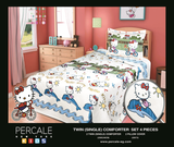 Percale 100% Egyptian Cotton Quilt 4 pieces Set (2 Quilts (200x240cm)+2 Pillow Covers) Disney-2369K