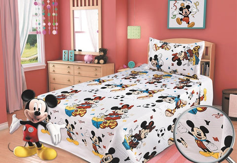 Percale 100% Egyptian Cotton Quilt 4 pieces Set (2 Quilts (200x240cm)+2 Pillow Covers) Disney-2369M