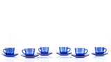Marinex 12 piece set (6 x Coffee cup 75ml + 6 x saucer 6.8 cm) Blue - 5102.6