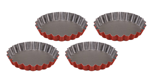 Guardini Rossana Set of 4 Pie Tins Red - 51204