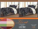 Loom Bed Sheets 8 pieces Sets (2 Bed Sheets (180x260cm)+ 2 Bedspread (180x260cm)+2 Pillow Covers+ 2 Pillow Cases) Blue- 8509B