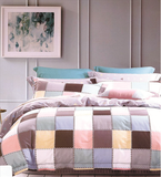 Loom Bed Sheets 8 pieces Sets (2 Bed Sheets (180x260cm)+ 2 Bedspread (180x260cm)+2 Pillow Covers+ 2 Pillow Cases) Multicolor- 8509C