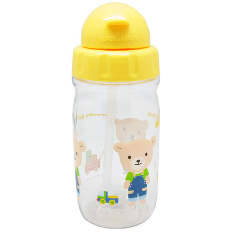 Lock & Lock Water Bottle with Starw 360ml Yellow - ABF630CY