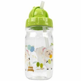 Lock & Lock Water Bottle with Starw 360ml Green(Extra Straw & Cleaner) - ABF630G