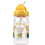 Lock & Lock Water Bottle with Straw 350ml Yellow (Extra Straw & cleaner) - ABF630Y