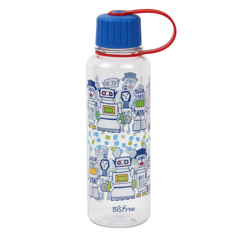 Lock & Lock Water Bottle 480ml Robot Design Blue  - ABF642BR