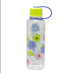 Lock & Lock Water Bottle 480ml Flower Design Green - ABF642GB
