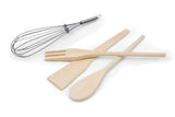 Wooden Servers Set 4 Pieces (Fork+2 Spoons+Whisker) - OYA14