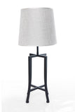 Table Lamp Black Chase and White Chapeau One Lamp - 603