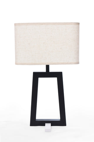 Table Lamp Black Chase and White Chapeau One Lamp - MT8719