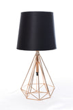 Table Lamp Gold Chase and Black Chapeau One Lamp - T1565FG