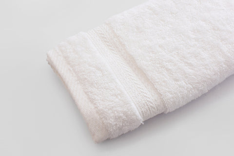 Percale 100% Egyptian Cotton Towel (100 x 50 cm) White- 2127W
