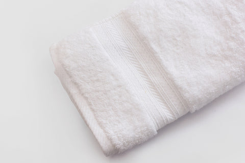 Percale 100% Egyptian Cotton Towel (70 x 140 cm) White- 2128W