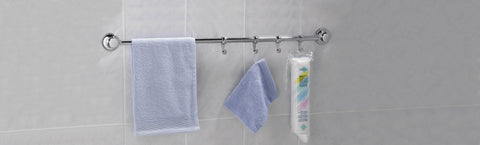 Everloc Towel Rail with 4 Hooks 35 cm - EL-10264