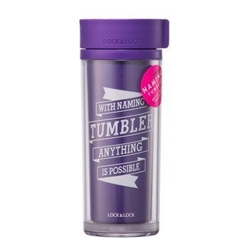 Lock & Lock Naming Tumbler Thermo Mug 300ml Purple - HAP508V