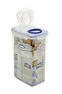Lock & Lock Rectangle Plastic Container 2.4L with Flip Lid - HPL813LF
