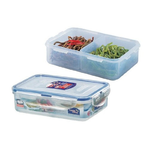 Lock & Lock Divided Plastic Container 550ml - HPL815C