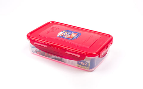 Lock & Lock Rectangle Plastic Container 800ml Red- HPL816R