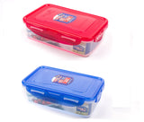 Lock & Lock 2 Piece Plastic Container Set (800ml x 2) Multicolour- HPL816SA2C
