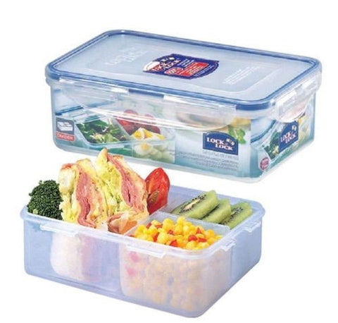 Lock & Lock Divided Plastic Container 1L - HPL817C-A