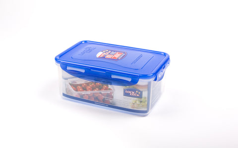 Lock & Lock Rectangle Plastic Container 1.4L Blue - HPL817HB