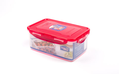 Lock & Lock Rectangle Plastic Container 1.4L Red- HPL817HR