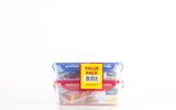 Lock & Lock 2 Piece Plastic Container Set (800ml + 1.0L) Multicolour - HPL817SA2-1C