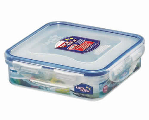 Lock & Lock Square Plastic Container 600ml - HPL822
