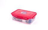 Lock & Lock 3 Piece Plastic Container Set (1.6L x 1+460ml x 2) Multicolour - HPL824SA3-1C