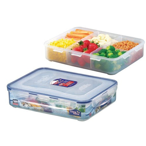 Lock & Lock Divided Plastic Container 2.7L - HPL832C