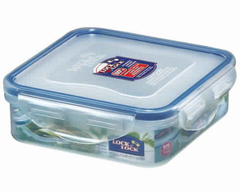 Lock & Lock Square Plastic Container 430ml - HPL852