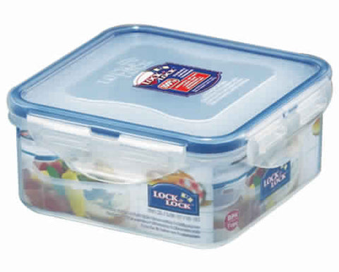 Lock & Lock Square Plastic Container 600ml - HPL854