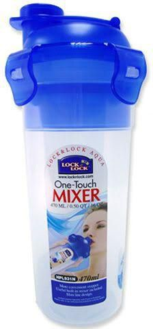 Lock & Lock Round Bottle and Mixer Plastic Container 470ml - HPL931N