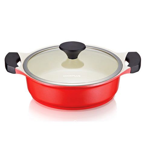Lock & Lock CookPlus Casserole-Ceramic-24cm-2.5L-Red