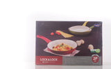 Lock & Lock 2 Piece Frying Pan Set (24cm + 28cm) Yellow with Colour Box - LEC2283SP2Y