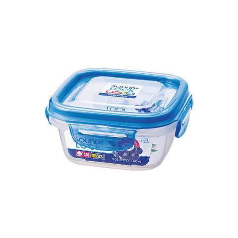 Lock & Lock Sound Lock Square Plastic Container 260ml Blue - LEP211
