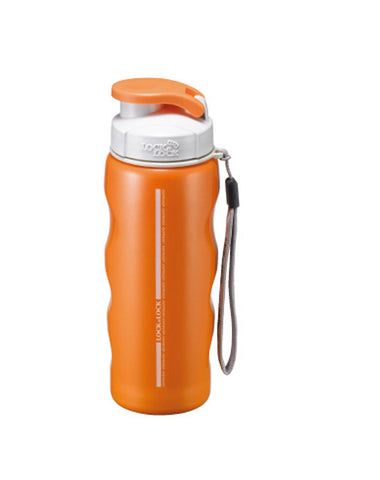 Lock & Lock Stainless Steel Water Bottle 400ml Orange - LHC203