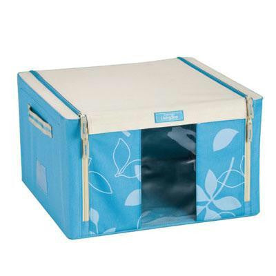 Lock & Lock Living Box with window 44L (420x420x250mm) Blue - LLB524B