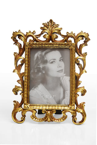Photo Frame 1 Photo (Photo Size: 12.5 x 17.5 cm) Gold - N233