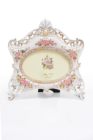 Photo Frame 1 Photo (Photo Size: 15 x 10 cm) White - N236