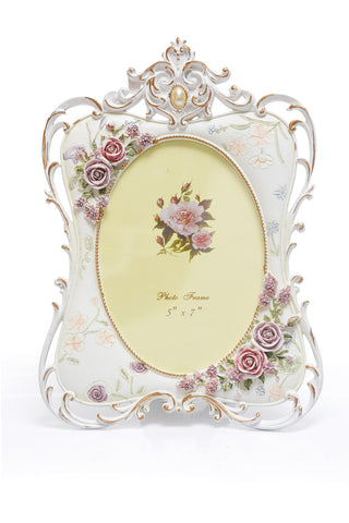 Photo Frame 1 Photo (Photo Size: 12.5 x 17.5 cm) White - N239
