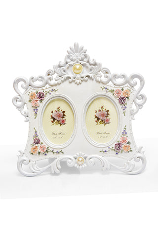 Photo Frame 2 Photos (Photos Size: 6 x 8.5 cm & 6 x 8.5 cm) White - N243