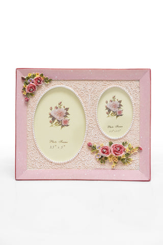 Photo Frame 2 Photos (Photo Sizes: 9 x 13 cm & 6.5 x 9 cm) Pink - N247