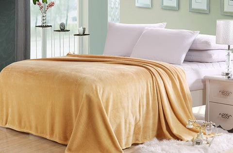 Percale Throw 1 Piece (220 x 240 cm) Yellow- 2328Y