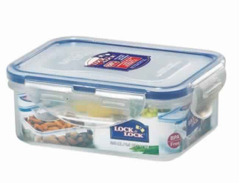 Lock & Lock Rectangle Plastic Container 350ml - HPL806