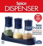 Lock & Lock Spice Dispenser (3 pcs x 100ml) Blue - HTE100S3
