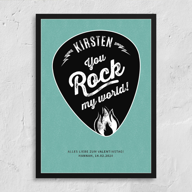 Personalisiertes Poster - You rock my World!